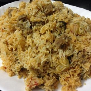 Gulbar Ka Thari Pulao (Mutton&Chicken)